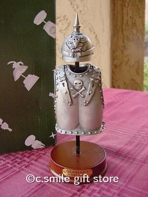 Pewter Replica *ARMOR & HELMET: GERMANY 1887-1912* Beautiful Quality Gift Boxed