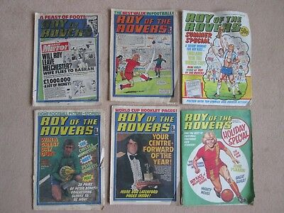 Roy of The Rovers Six Comics from 1978/1980/1982.