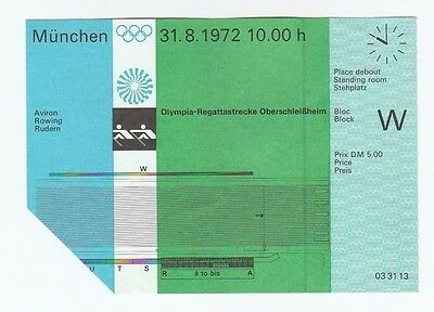 Orig.Ticket   Olympic Games MÜNCHEN 1972  -  ROWING  31.08.  !!  VERY RARE