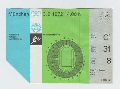 Orig.Ticket  Olympic Games MÜNCHEN 1972  -  03.09.1972 - Athletics 4 Finals !! A