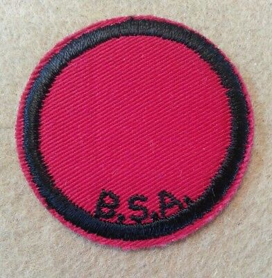 Vintage Twill Boy Scout Red & Black  Patrol Patch - Blank - Excellent B00165A