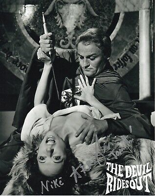 HAMMER FILMS - Nike Arrighi - Signed Photograph #12 THE DEVIL RIDES OUT