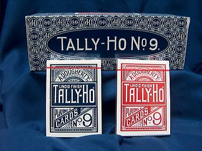 Playing Cards Tally Ho Circle Back Decks  New QTY:12 Decks 6 Blue / 6 Red Sealed