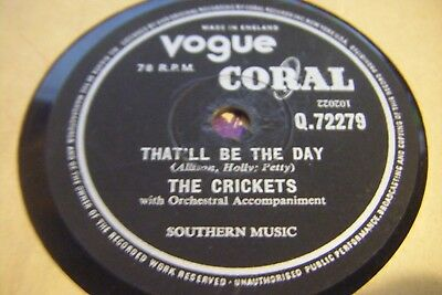 The Crickets* That'll Be The Day / I'm Lookin For Someonr To Love*vg