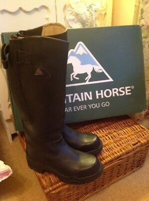 Leather Mountain Horse Riding Boots Size 4