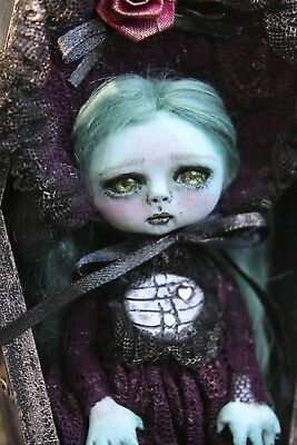 OOAK art doll ghoul horror Lil Poe Collection A. Gibbons monster goth fairy tale