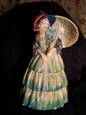 Wade figurine of lady in kingfisher blue dress with parasol Sunshine 7