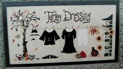 Turkey Dressing Thanksgiving Counted Cross Stitch Leaflet