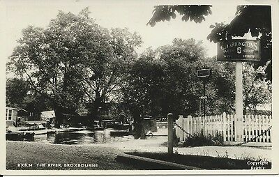RP postcard of the River and Crown Pub, Broxbourne