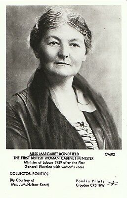 Political Postcard - Miss Margaret Bondfield - First Woman Cabinet Minister Q616