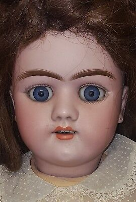 """Antique Doll 26"""" Bisque Head Handwerck Composite Jointed Body Human Hair"""