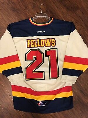 Erie Otters Patrick Fellows Game Worn Warm Up Jerseys