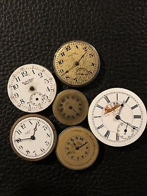 6 Various American Pocket Watch Movements