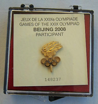 Orig.participant pin   Olympic Games BEIJING 2008 // in Orig.Box  !!  RARITY