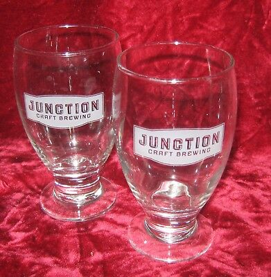 1 - Lot of 2 - 1/2 pint Junction Craft Brewery Beer Glasses (2017-131)