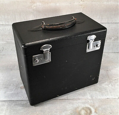 SINGER 221 FEATHERWEIGHT Sewing Machine Black Carry Case w Lift Out Tray Vtg 30s