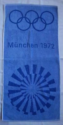 Orig.towel    Olympic Games MÜNCHEN 1972  -  Off.Logo // 94 x 54 cm  !!  RARITY