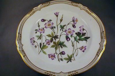 "HAND PAINTED by E ELLIS SPODE WILD FLOWERS PLATE ""MEADOW CRANESBILL"" - PERFECT"
