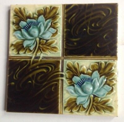 Lovely Quartered Tile Good Condition. Genuine Victorian 6X6