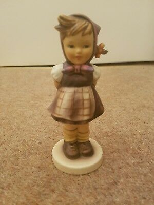 "Goebel Hummel ""which Hand"" #258 Figurine 1963 Tmk 5"