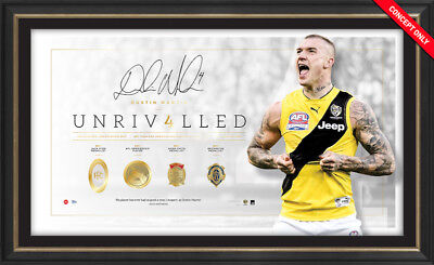 UNRIVALLED – Dustin Martin Signed & Framed $599 Richmond Tigers Official Edition