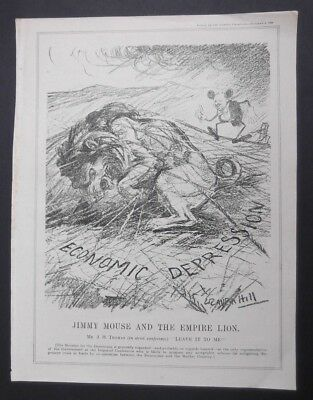 'jimmy Mouse And The Empire Lion' Punch Cartoon  October 8Th 1930