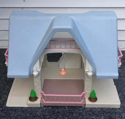 Vintage Little Tikes Blue Roof Doll House