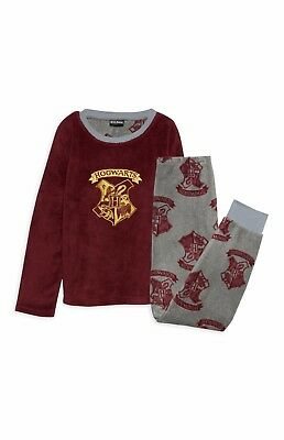 HARRY POTTER PJ'S Boys Gryffindor Hogwarts Cosy PJs Fluffy Pyjamas NEW Primark