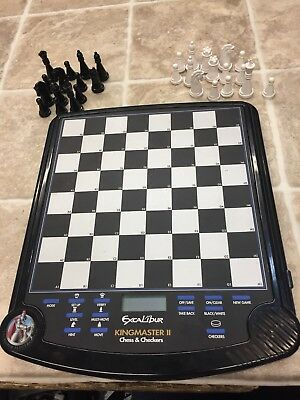 Excalibur Kingmaster II Chess & Checkers Game Incomplete