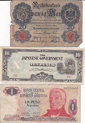 7 1908-1995 Circulated Notes From All Over
