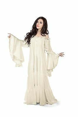 Mythic Renaissance Medieval Chemise Dress Unsmocked Gown Romantic Sleeves