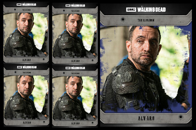 Topps The Walking Dead Card Trader COMMUNITY ALVARO Black & Blue Digital