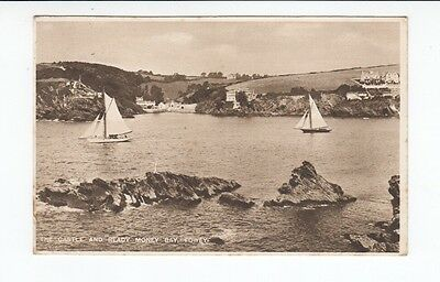 Postcard. The Castle and Ready Money Bay, Fowey. Cornwall.