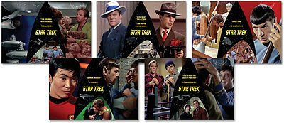 Star Trek 50Th Anniversary 2016 Set Of 5 Pre-Paid Postcards W/ Canadian Stamps