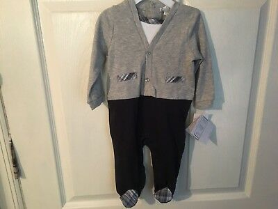 Quiltex 1 Piece Boys Outfit 3-6 MONTHS *NEW W/TAGS*