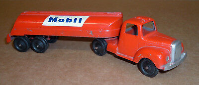 MOBIL GAS SEMI TRUCK TOOTSIETOY Old Toy Original Tanker Vintage Red