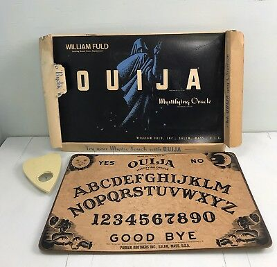 Vintage Halloween OUIJI board game 1960s William Fuld Parker Bros +Box psychic