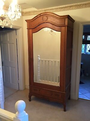 Victorian French Armoire Oak
