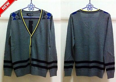 NEW Unisex Gray Cardigan Sweater US SIZE M Jumper Mens Womens Casual Outerwear