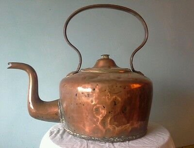 Very Large. Super Quality Antique Copper Kettle.