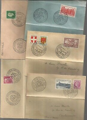 France 1945/50 covers with illustrated postmarks