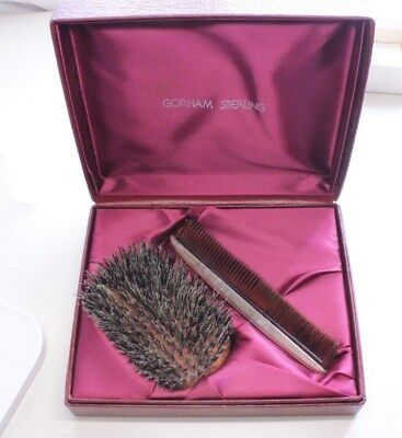 GORHAM STERLING SILVER MEN'S GROOMING SET / COMB & BRUSH w/org Box
