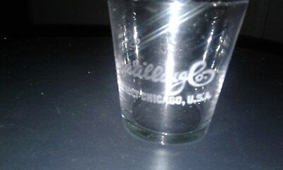 Advertising clear shotglass Security Distilling Co. Perfect no damage