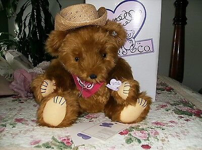 "Cowboy Glen Teddy Bear From Annette Funicello's ""country Collection"""