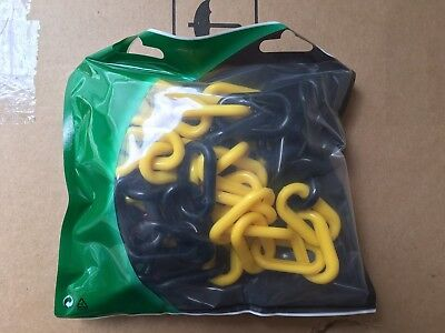 Visio Black & Yellow 8mm Plastic Safety Chain with Hooks & Links
