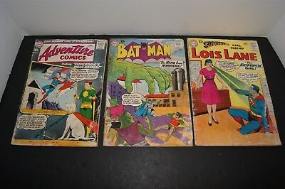 Adventure comics 1960 # 269, Batman comic 1960 # 130 and Superman 1960 # 16