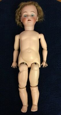 """Antique Simon And Halbig Handwreck Doll. S & H, H X IV Germany. 25"""""""
