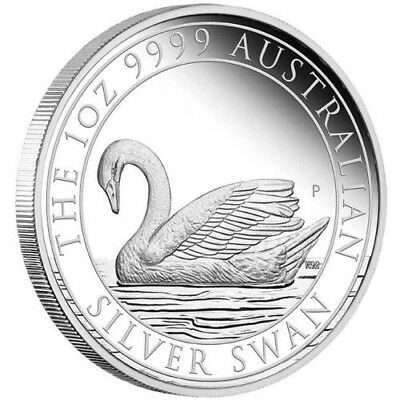 2017 Perth Mint Australian Swan 1oz Silver Proof Coin Only 2,500 Minted