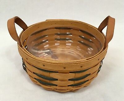 Longaberger 2001 Heartland Button Basket with Protector