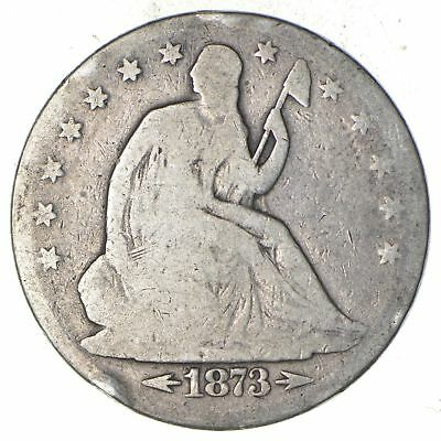 Early - 1887 Seated Liberty Half Dollar - Rare Type US Coin Silver 90% *705